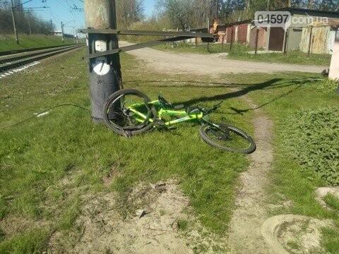 Велосипеди потрапив під потяг в Ірпені