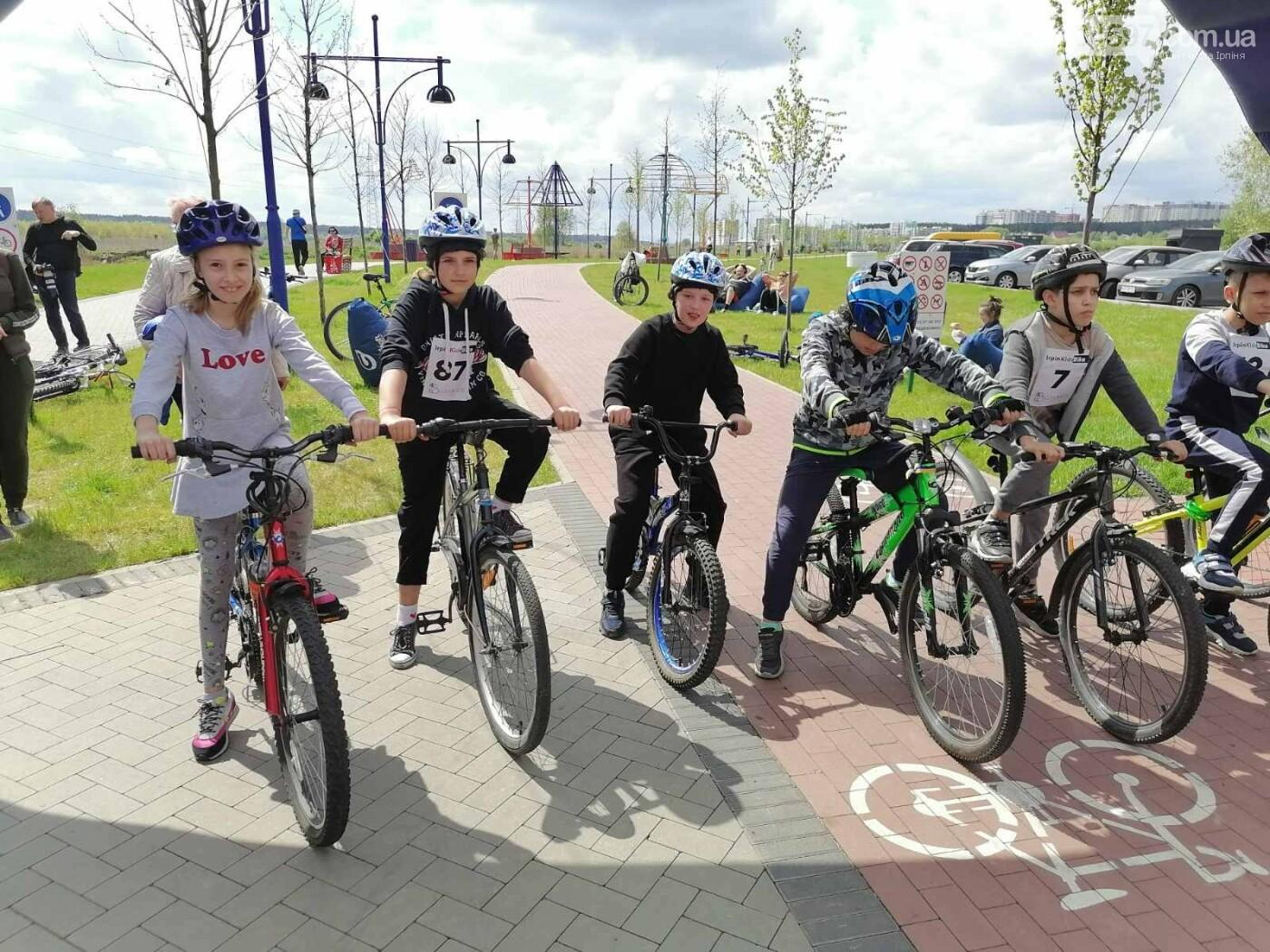 В Ірпені пройшли дитячі велосипедні гонки