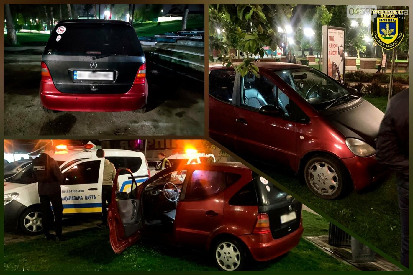 Водія оштрафували за парковку на газоні в Ірпені