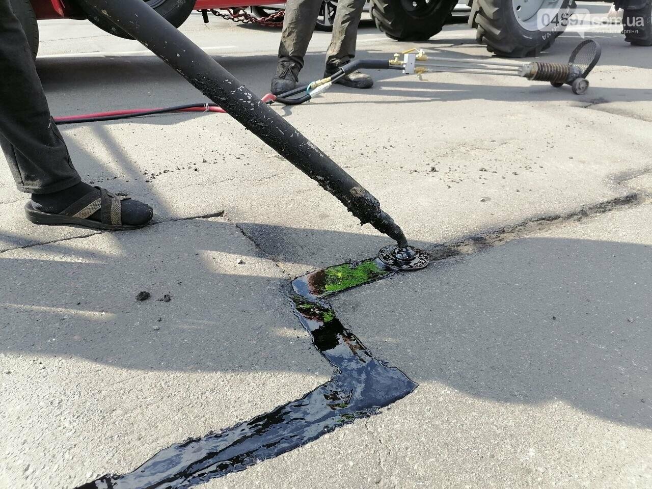 В Ірпені тестують нову технологію ремонту асфальту