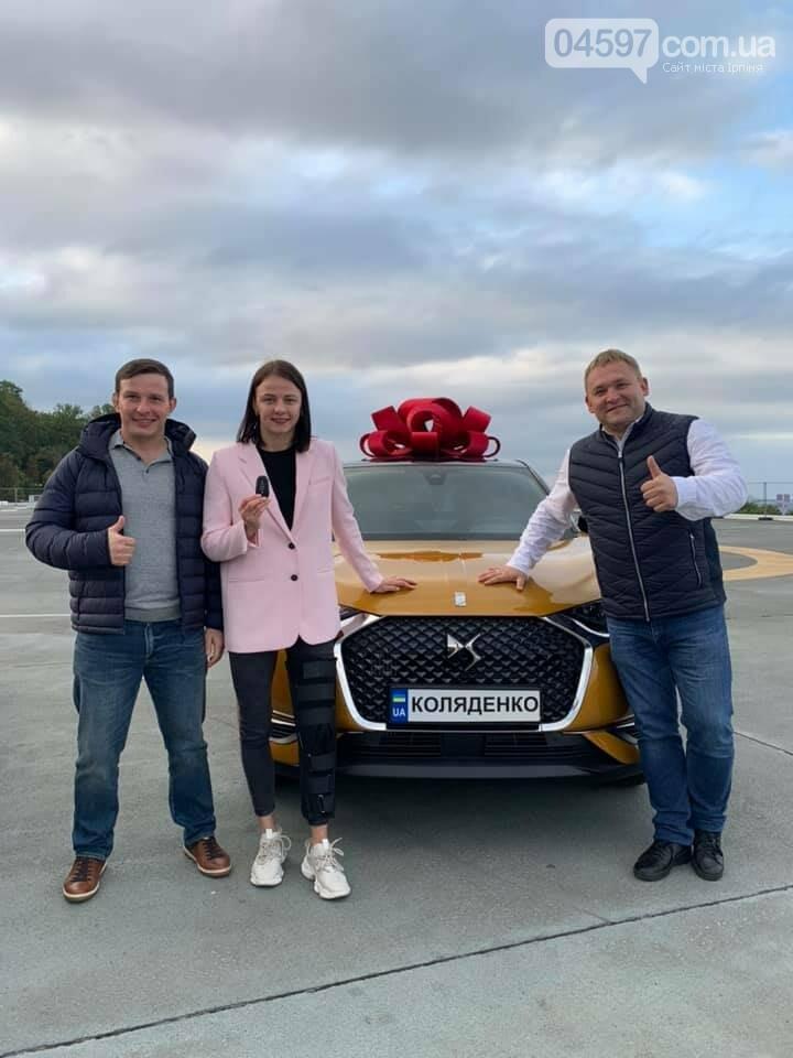 Оліймпійській борчині з Ірпеня подарували авто
